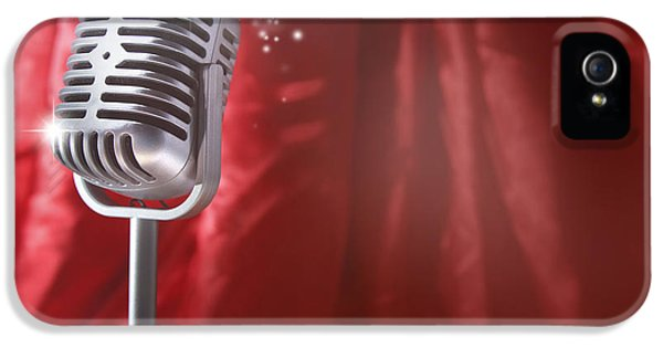 Microphone IPhone 5 Case by Les Cunliffe