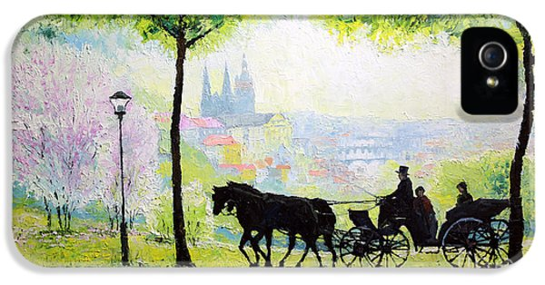 Midday Walk In The Petrin Gardens Prague IPhone 5 Case by Yuriy Shevchuk