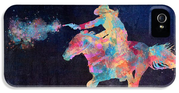 Midnight Cowgirls Ride Heaven Help The Fool Who Did Her Wrong IPhone 5 Case by Nikki Marie Smith