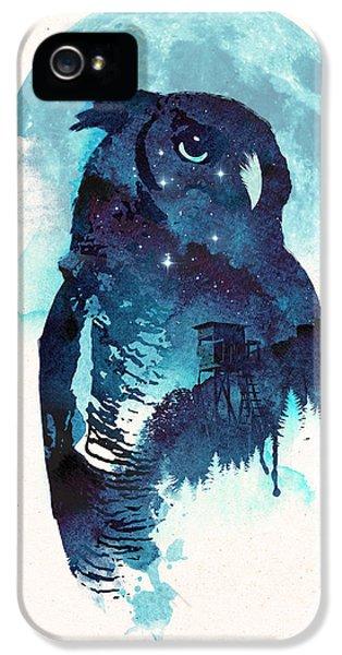 Midnight Owl IPhone 5 Case by Robert Farkas