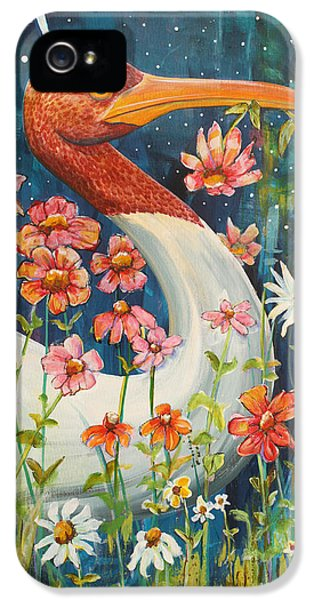 Midnight Stork Walk IPhone 5 Case by Blenda Studio