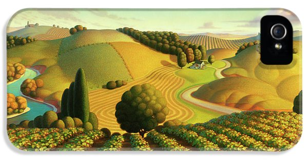 Midwest Vineyard IPhone 5 Case by Robin Moline