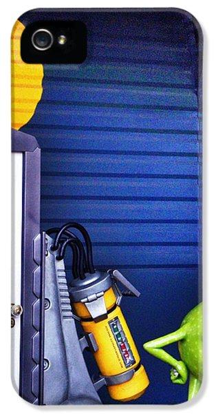Mike With Boo's Door - Monsters Inc. In Disneyland Paris IPhone 5 Case by Marianna Mills