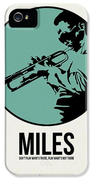 Jazz iPhone 5 Case - Miles Poster 1 by Naxart Studio