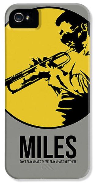 Jazz iPhone 5 Case - Miles Poster 3 by Naxart Studio