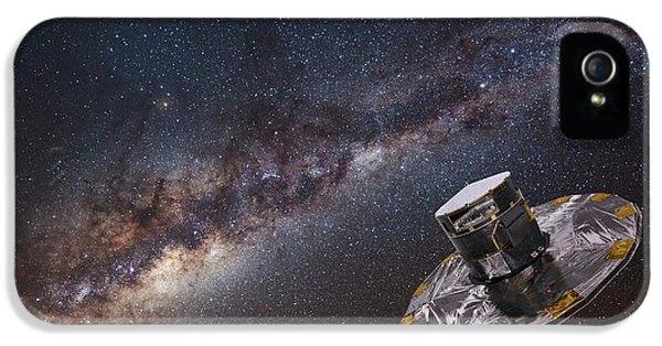Milky Way And Gaia Satellite IPhone 5 Case by European Space Agency,d. Ducros