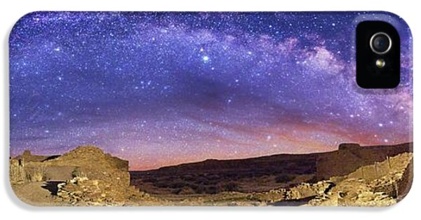 Milky Way Over Chaco Canyon Ruins IPhone 5 Case by Walter Pacholka, Astropics