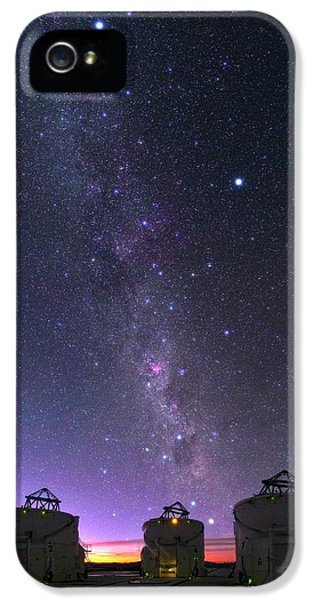 Milky Way Over Vlt Telescopes IPhone 5 Case by Babak Tafreshi