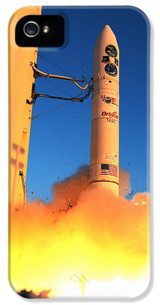 Minotaur Iv Rocket Launches Falconsat-5 IPhone 5 Case by Science Source