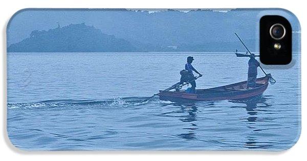 Blue iPhone 5 Case - Misty Hills Of Myanmar #myanmar #burma by Georgia Fowler