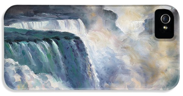 Misty Niagara Falls IPhone 5 Case by Ylli Haruni