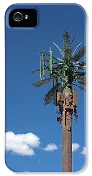 Mobile Phone Communications Tower IPhone 5 Case by Jim West