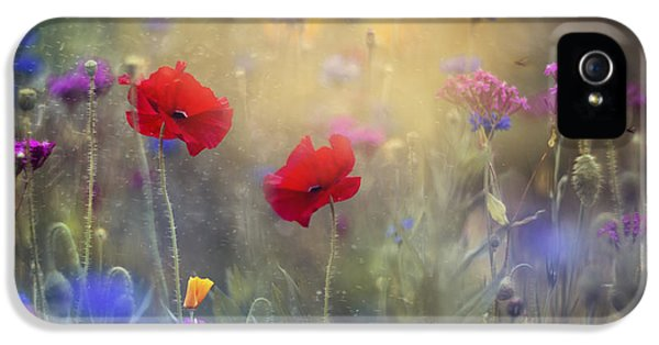 Monet's Garden I IPhone 5 Case by Magda  Bognar