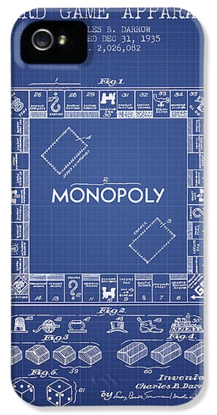 Monopoly Patent From 1935 - Blueprint IPhone 5 Case by Aged Pixel