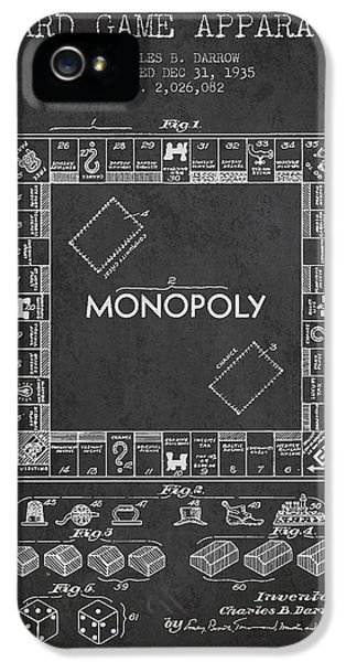 Monopoly Patent From 1935 - Dark IPhone 5 Case by Aged Pixel