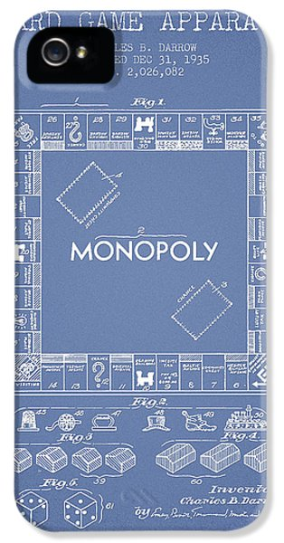 Monopoly Patent From 1935 - Light Blue IPhone 5 Case by Aged Pixel