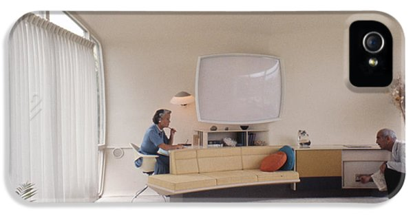 Monsanto House Of The Future At Disneyland 1961 Interior IPhone 5 Case by The Harrington Collection