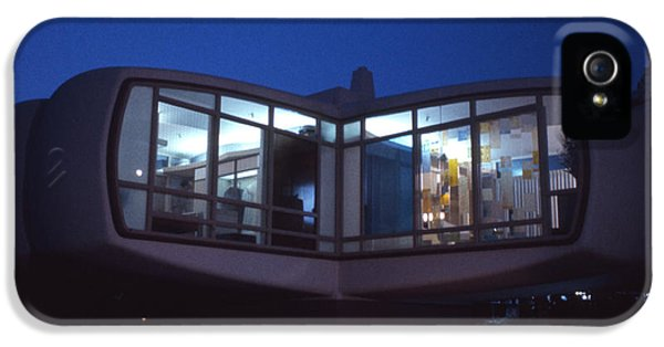 Monsanto House Of The Future At Disneyland At Night 1961 IPhone 5 Case by The Harrington Collection