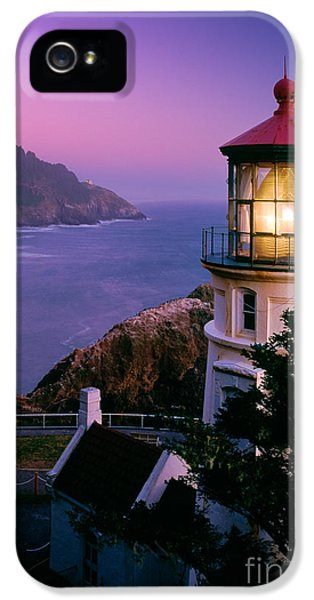 Moon Over Heceta Head IPhone 5 Case by Inge Johnsson