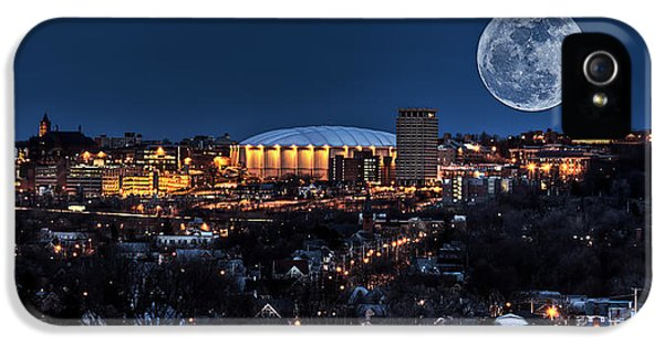 Moon Over The Carrier Dome IPhone 5 Case by Everet Regal