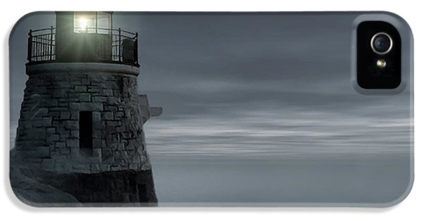 Moonlight At Castle Hill IPhone 5 Case by Lourry Legarde