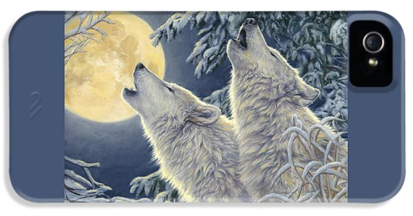 Wolf iPhone 5 Case - Moonlight by Lucie Bilodeau