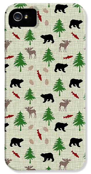 Moose And Bear Pattern IPhone 5 Case