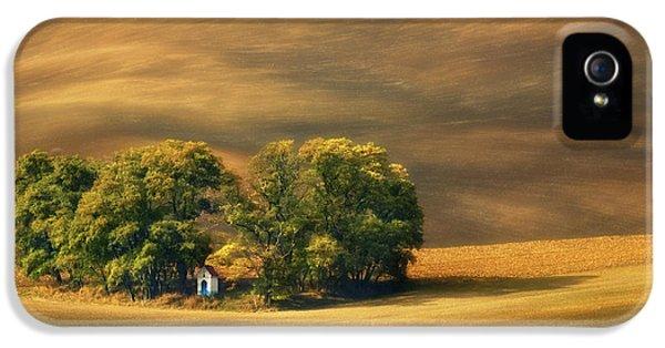 Chapel iPhone 5 Case - Moravian Fields... by Krzysztof Browko
