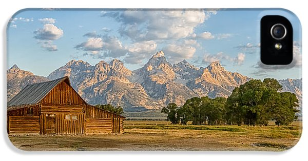 Mormon Row Farm IPhone 5 Case by Andres Leon