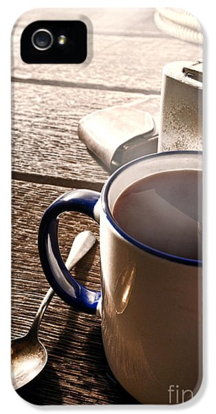 Morning Coffee At The Ranch  IPhone 5 Case by Olivier Le Queinec