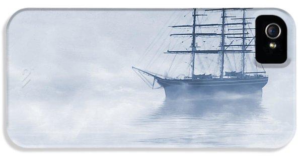 Morning Mists Cyanotype IPhone 5 Case by John Edwards