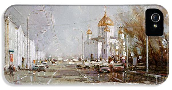 Moscow. Cathedral Of Christ The Savior IPhone 5 Case