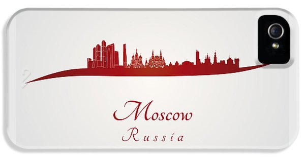 Moscow Skyline In Red IPhone 5 Case