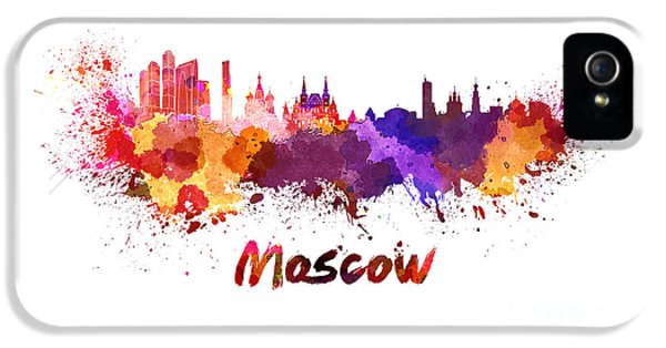 Moscow Skyline In Watercolor IPhone 5 Case
