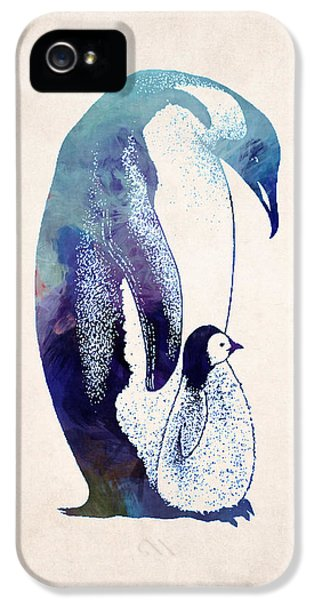 Mother And Baby Penguin IPhone 5 Case
