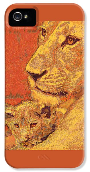 Mother And Cub IPhone 5 Case by Jane Schnetlage