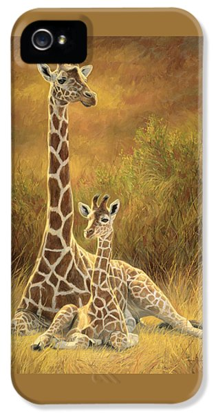 Mother And Son IPhone 5 Case by Lucie Bilodeau