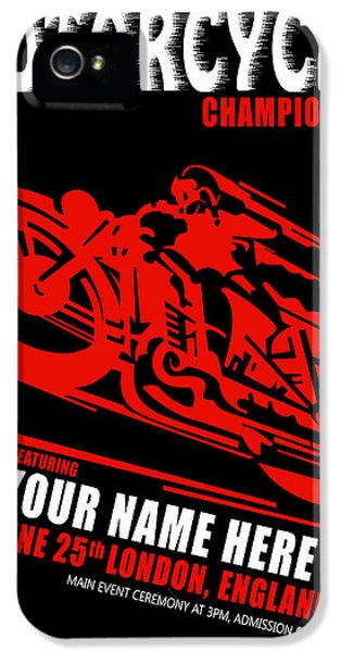 Motorcycle Customized Poster 2 IPhone 5 Case by Mark Rogan