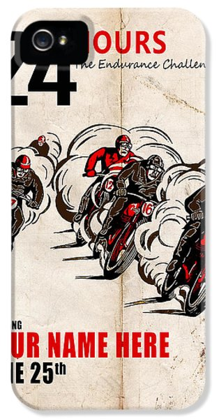 Motorcycle Customized Poster 5 IPhone 5 Case by Mark Rogan