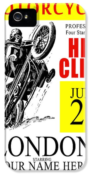 Motorcycle Customized Poster 6 IPhone 5 Case by Mark Rogan