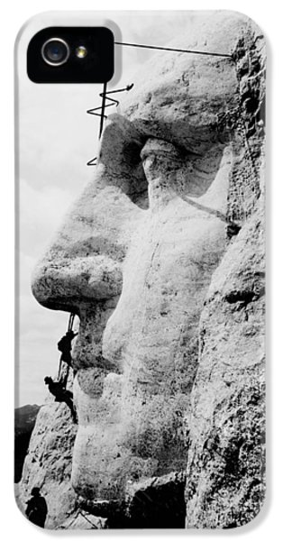 Mount Rushmore Construction Photo IPhone 5 Case by War Is Hell Store