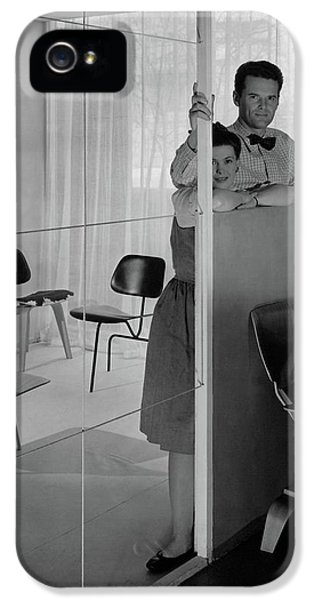 Mr And Mrs Charles Eames At The Museum Of Modern IPhone 5 Case by George Platt Lynes