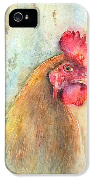 Rooster iPhone 5 Case - Mr.- In Love With Mrs. by Arline Wagner