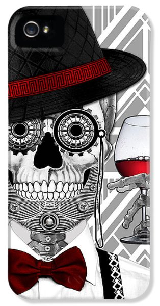 Mr. J.d. Vanderbone - Day Of The Dead 1920's Sugar Skull - Copyrighted IPhone 5 Case