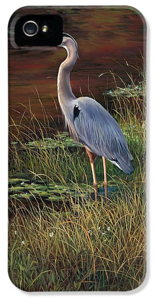 Mrs Blue Heron IPhone 5 Case by Laurie Hein