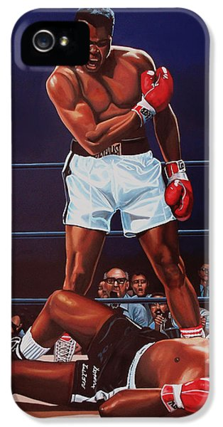 Portraits iPhone 5 Case - Muhammad Ali Versus Sonny Liston by Paul Meijering