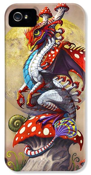 Dragon iPhone 5 Case - Mushroom Dragon by Stanley Morrison