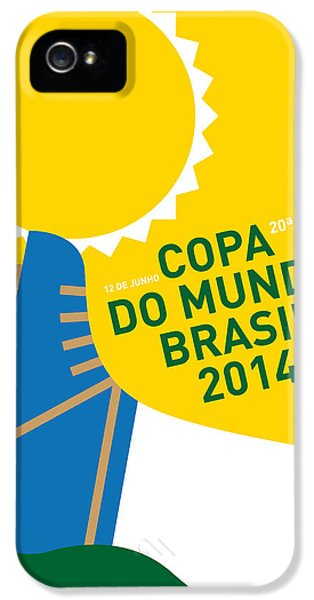 My 2014 World Cup Soccer Brazil - Rio Minimal Poster IPhone 5 Case by Chungkong Art