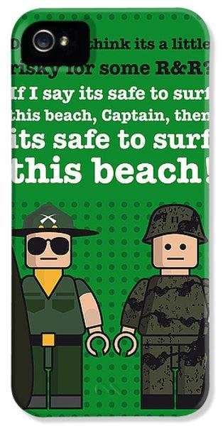My Apocalypse Now Lego Dialogue Poster IPhone 5 Case by Chungkong Art