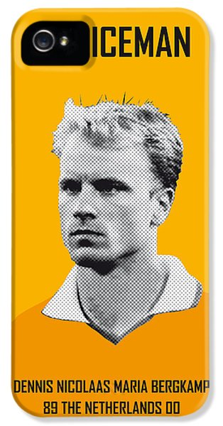 My Bergkamp Soccer Legend Poster IPhone 5 Case by Chungkong Art
